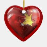 A Broken Heart Christmas Ornaments