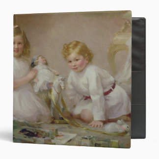 A Brother and Sister Playing, 1915 3 Ring Binder