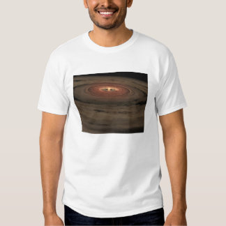 A brown dwarf surrounded by a swirling disk t shirt