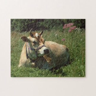 A Brown Jersey Cow in a Meadow jigsaw Puzzle