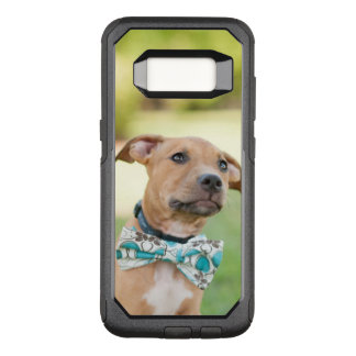 A Brown Puppy Wears A Colorful Bow Tie OtterBox Commuter Samsung Galaxy S8 Case