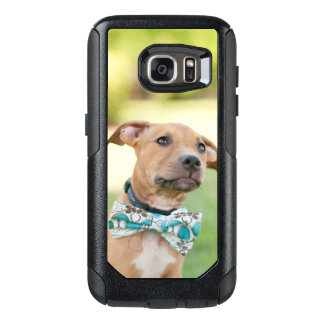 A Brown Puppy Wears A Colorful Bow Tie OtterBox Samsung Galaxy S7 Case