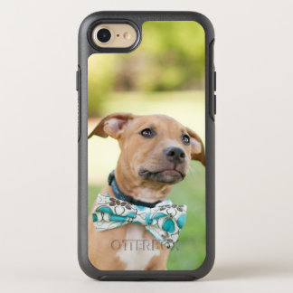 A Brown Puppy Wears A Colorful Bow Tie OtterBox Symmetry iPhone 8/7 Case