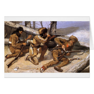 A Brush with the Redskins by Frederic Remington Card