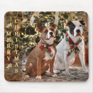 A Bubba and Kensie Christmas Mouse Pad