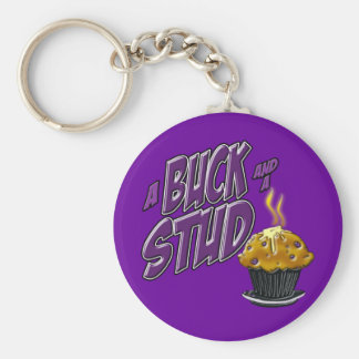 A Buck and a Stud Muffin Keychain