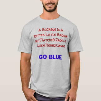 A Buckeye Is A Bitter Little Brown Nut,Hatched ... T-Shirt