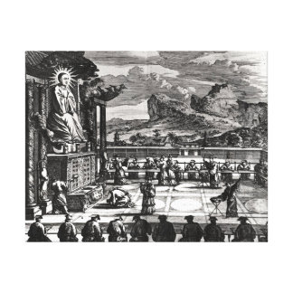 A Buddhist Ceremony from, 'Indiae Orientalis' Canvas Print