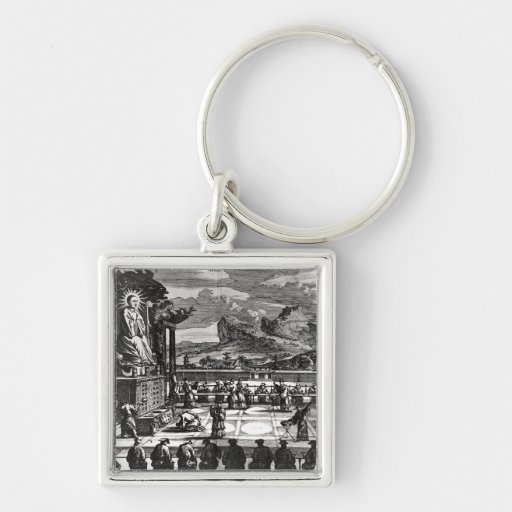 A Buddhist Ceremony from, 'Indiae Orientalis' Key Chains