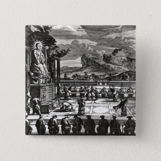 A Buddhist Ceremony from, 'Indiae Orientalis' Pinback Button
