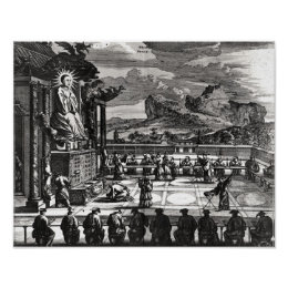 A Buddhist Ceremony from, 'Indiae Orientalis' Poster