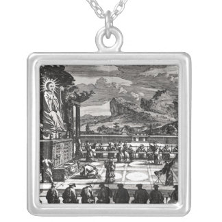A Buddhist Ceremony from, 'Indiae Orientalis' Silver Plated Necklace
