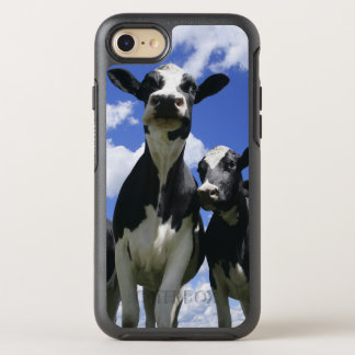 A bugs eye view of four young calves OtterBox symmetry iPhone 7 case