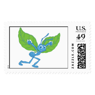 A Bug's Life Flik flying with leaves Disney Stamp
