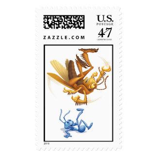 A Bug's Life Flik juggling Hopper Disney Stamp