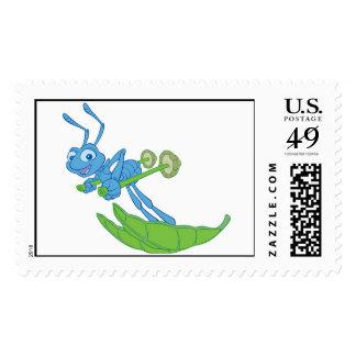A Bug's Life Flik Skiing Disney Stamp