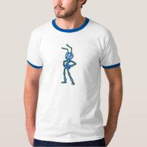A Bug's Life Flik Standing Blue and Gold Disney T-Shirt
