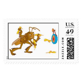 "A Bug's Life Hopper Throwing Hornet ""darts"" Disney Postage"