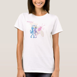 A Bug's Life Princess Atta and Flik Hearts Aglow T-Shirt