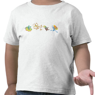 A Bug's Life's characters chase after candy corn Tshirts
