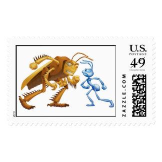A Bug's Life's Flik and Hopper  Disney Postage Stamp