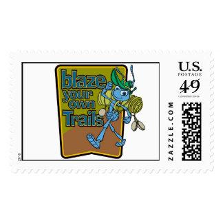 """A Bug's Life's Flik """"Blaze Your Own Trails"""" Disney Stamp"""