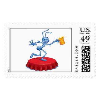 A Bug's Life's Flik Performing Disney Postage Stamps