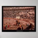 A bull fight, Barcelona, Spain Poster