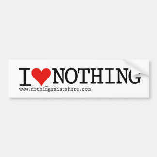 A bumper sticker with Nothing on it