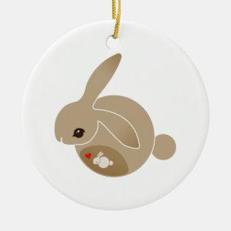 a BUN in the oven Ceramic Ornament