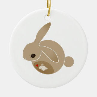 a BUN in the oven Double-Sided Ceramic Round Christmas Ornament