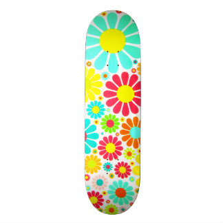 A Bunch of Colorful Daisies Skateboard Deck