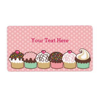 A Bunch of Cupcakes Bookplates Labels