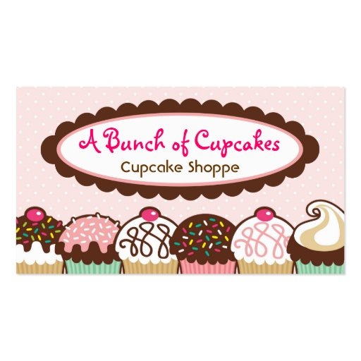 A Bunch of Cupcakes Business Cards