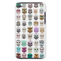 A Bunch of Cute Owls Design Barely There iPod Case
