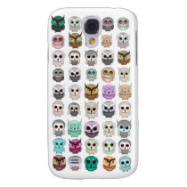 A Bunch of Cute Owls Design Samsung Galaxy S4 Cover