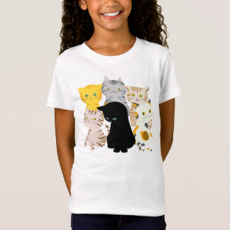 A Bunch of Funny Cats Babydoll Girl's T Shirts