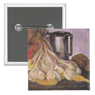 A Bunch of Garlic and a Pewter Tankard Pinback Button