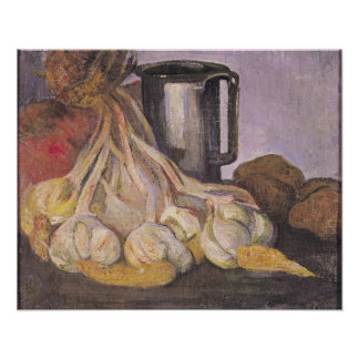 A Bunch of Garlic and a Pewter Tankard Poster