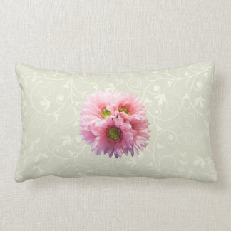 A Bunch of Pink Daisies Throw Pillow