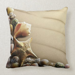 A Bunch of Seashells Throw Pillow