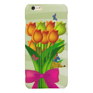 A Bunch of Tulips Glossy iPhone 6 Plus Case