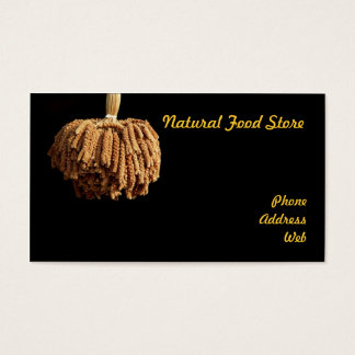 A Bundle of Dried Millet Head - Natural Food Business Card