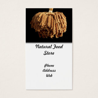 A Bundle of Dried Millet Heads - Natural Food Business Card