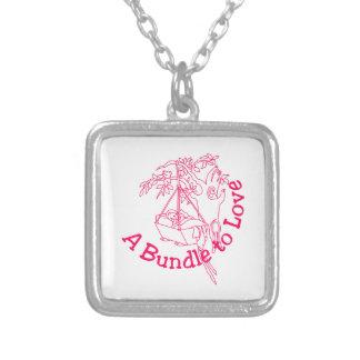 A Bundle to Love Square Pendant Necklace