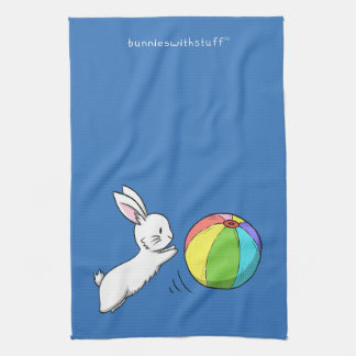 A bunny and a ball hand towel