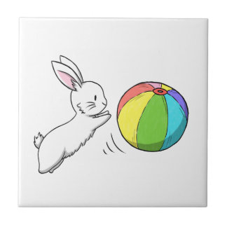 A bunny and a ball tile
