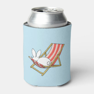 A bunny and a deckchair can cooler