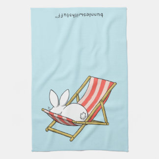 A bunny and a deckchair hand towel
