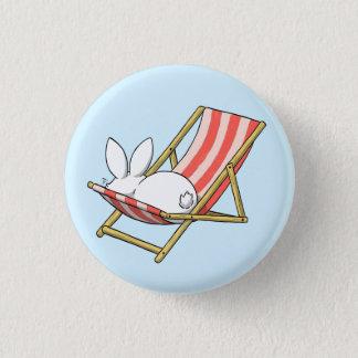 A bunny and a deckchair pinback button